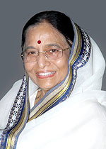 President of India : Smt. Pratibha Devisingh Patil
